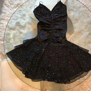 Betsey Johnson Evening crystal silk dress:8
